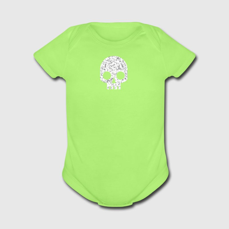 Mint green COOL SQUARE SKULL SHAPE PIRATE Baby Body - Short Sleeve Baby Bodysuit