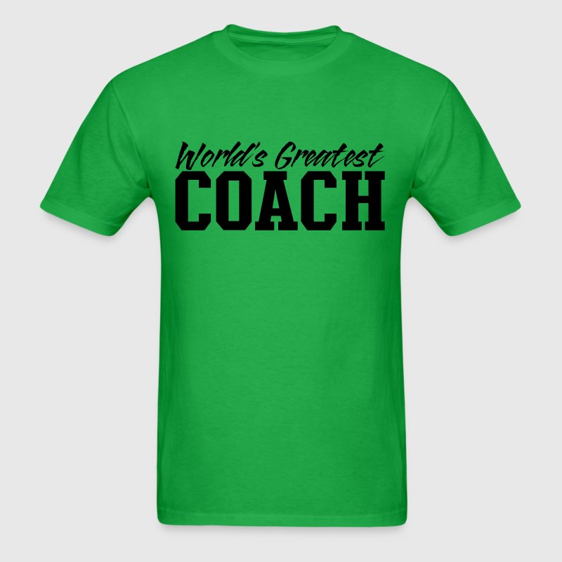 Bright green worlds greatest coach T-Shirts - Men's T-Shirt
