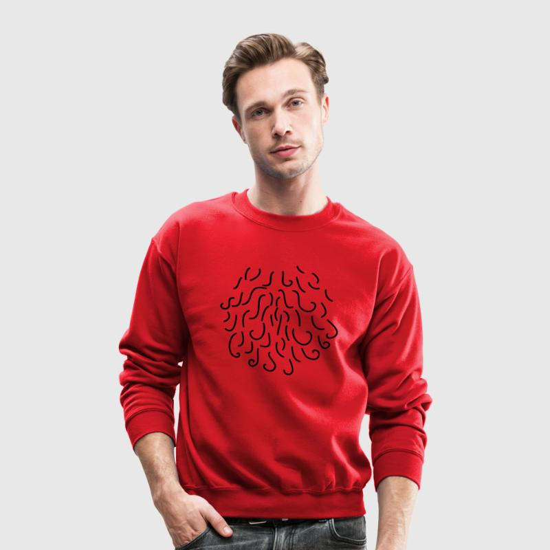 Red CHEST HAIR HAIRY RUG Long Sleeve Shirts - Crewneck Sweatshirt
