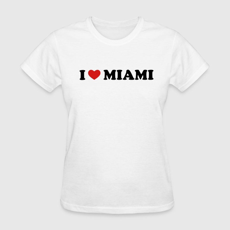 White I Love Miami Women's T-Shirts - Women's T-Shirt