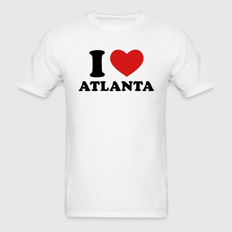 White I Love Atlanta T-Shirts - Men's T-Shirt