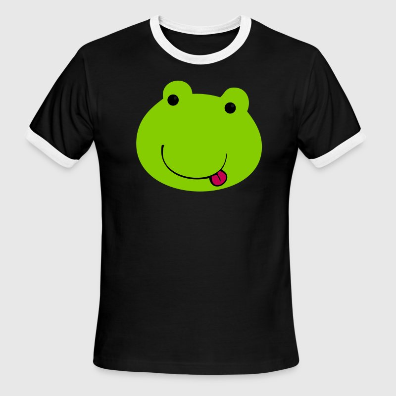 Chocolate/tan froggy kawaii face so cute! T-Shirts - Men's Ringer T-Shirt