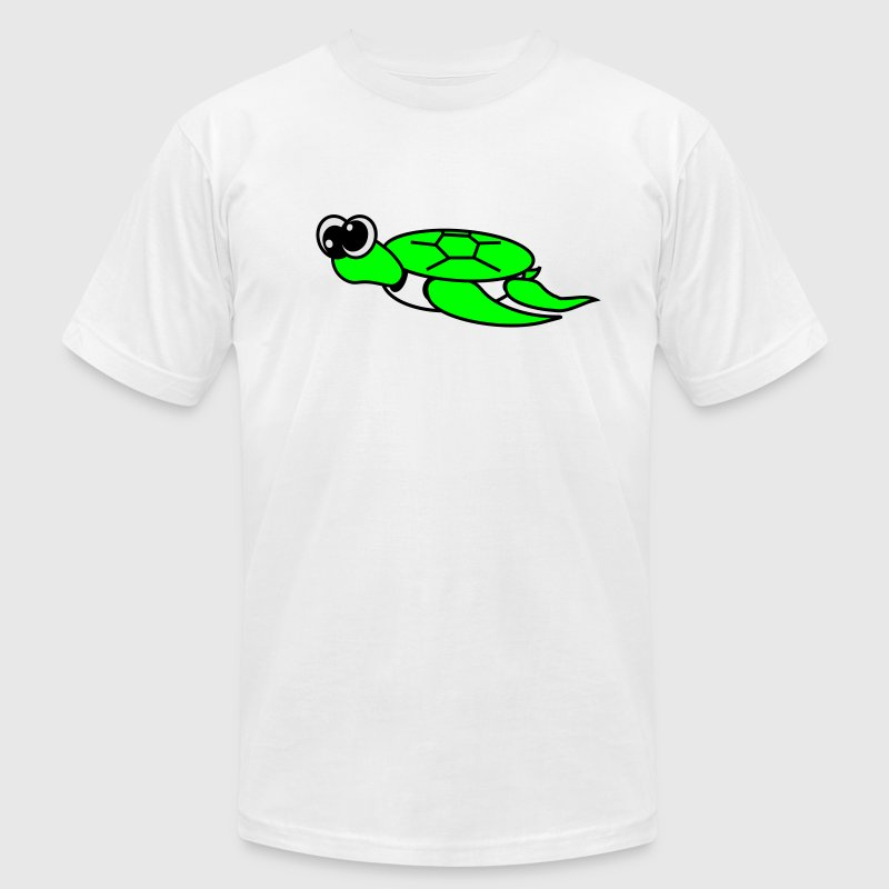 Gold Timmy the Turtle  By VOM Design - virtualONmars T-Shirts - Men's T-Shirt by American Apparel
