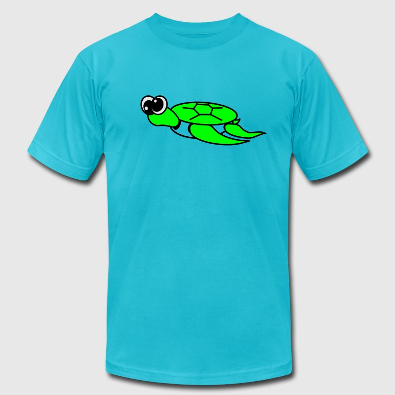 Gold Timmy the Turtle  By VOM Design - virtualONmars T-Shirts - Men's Fine Jersey T-Shirt