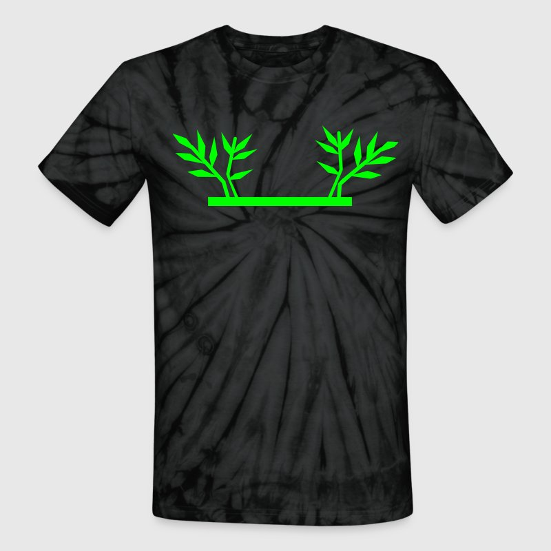 Spider black BAMBOO SHOOTS can be used in frame framing border T-Shirts - Unisex Tie Dye T-Shirt