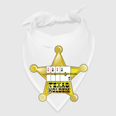 White texas holdem shooting star (DDP) Buttons - Bandana