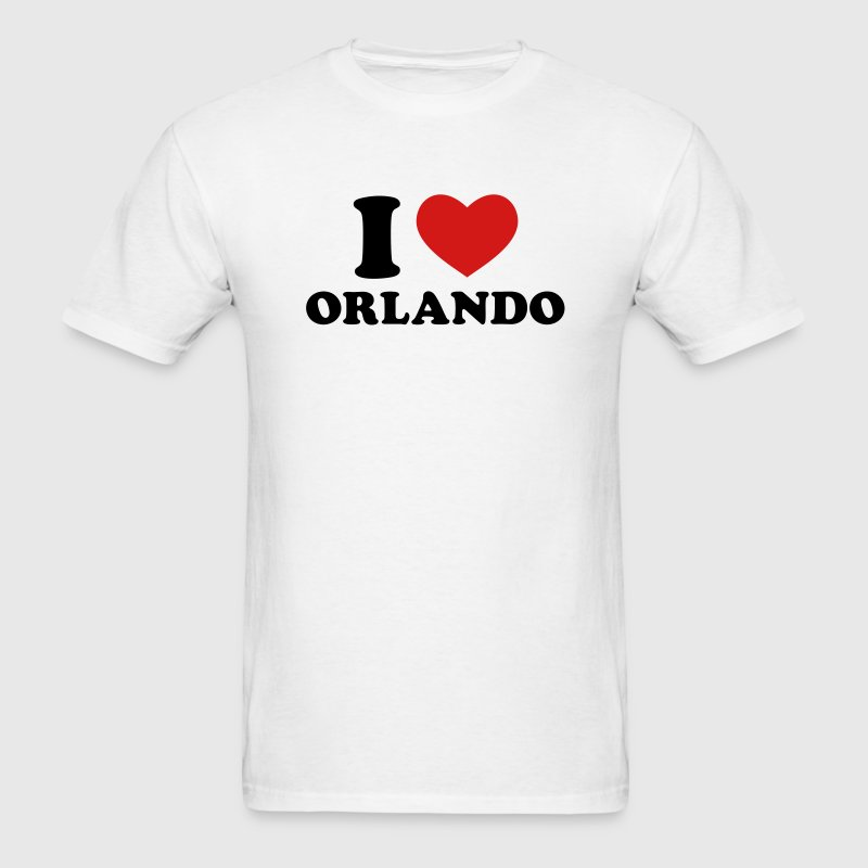White I Love Orlando T-Shirts - Men's T-Shirt