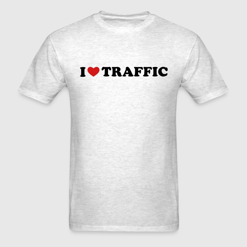 Light oxford I Love Traffic T-Shirts - Men's T-Shirt