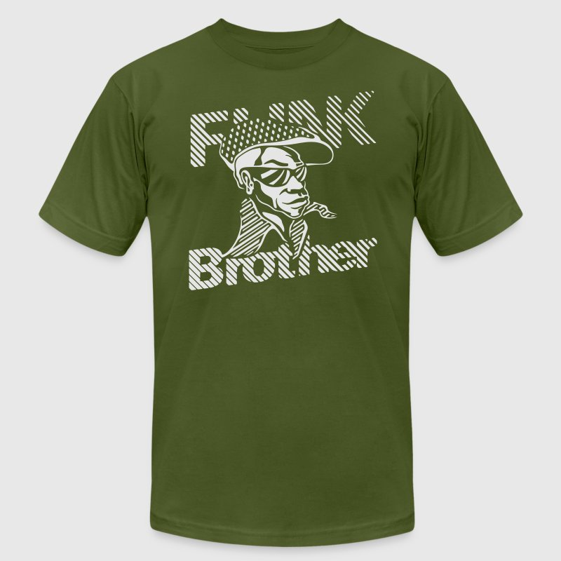 Olive THE ORIGINAL FUNK BROTHER  T-Shirts - Men's Fine Jersey T-Shirt