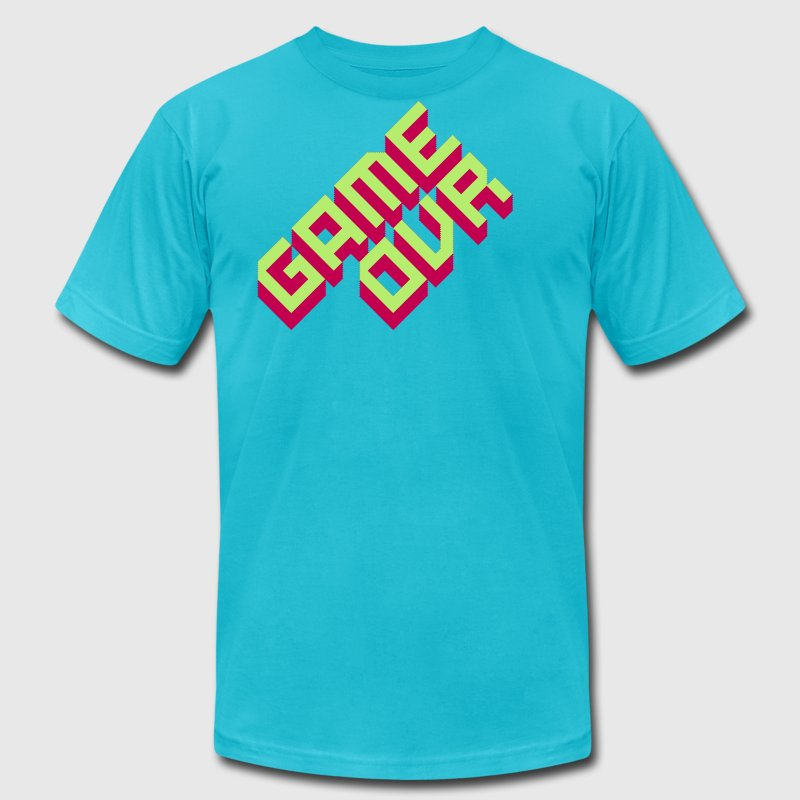 Turquoise Game Ovr T-Shirts - Men's T-Shirt by American Apparel
