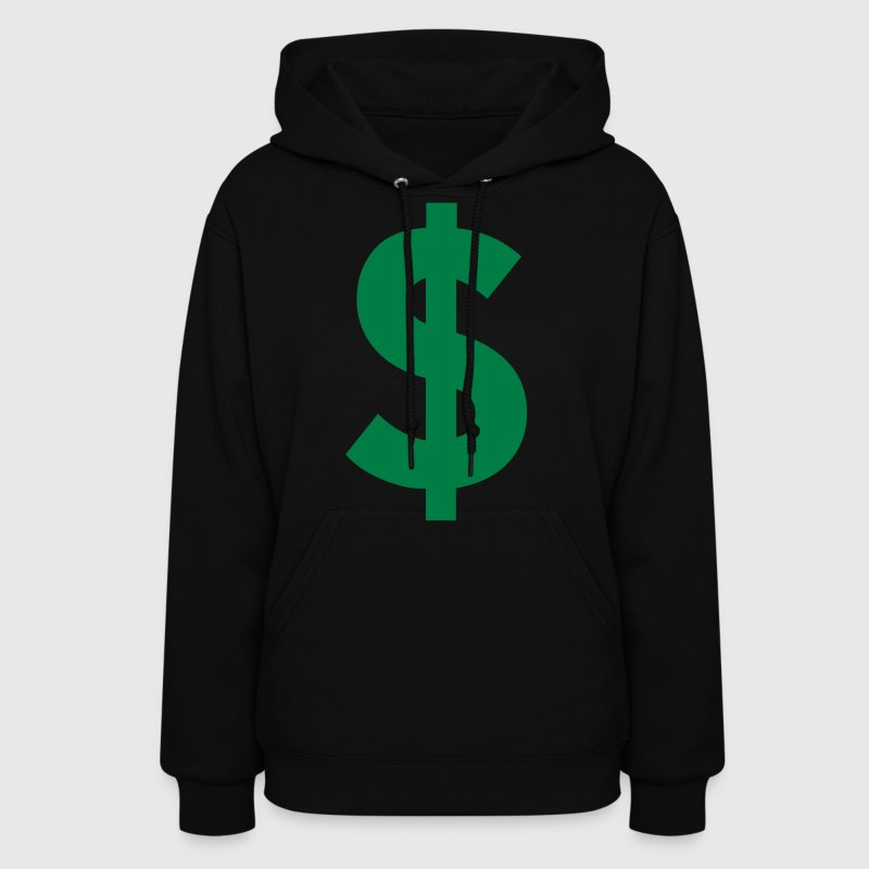 Black Dollar Sign Hoodies - Women's Hoodie