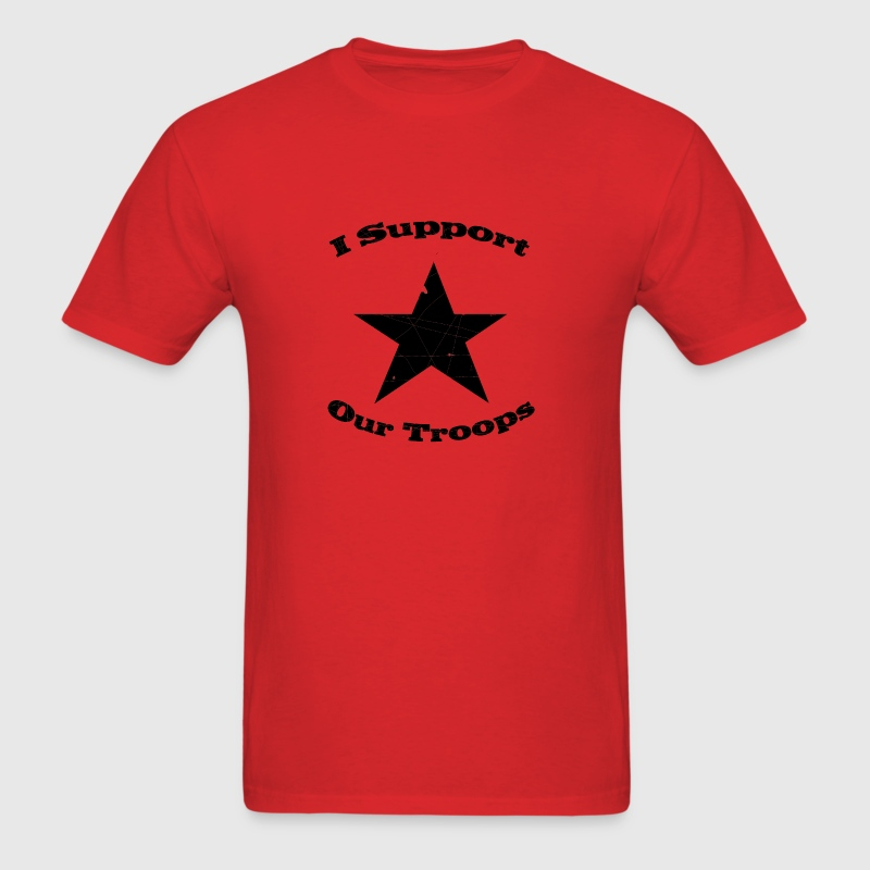 Red support our troops T-Shirts - Men's T-Shirt