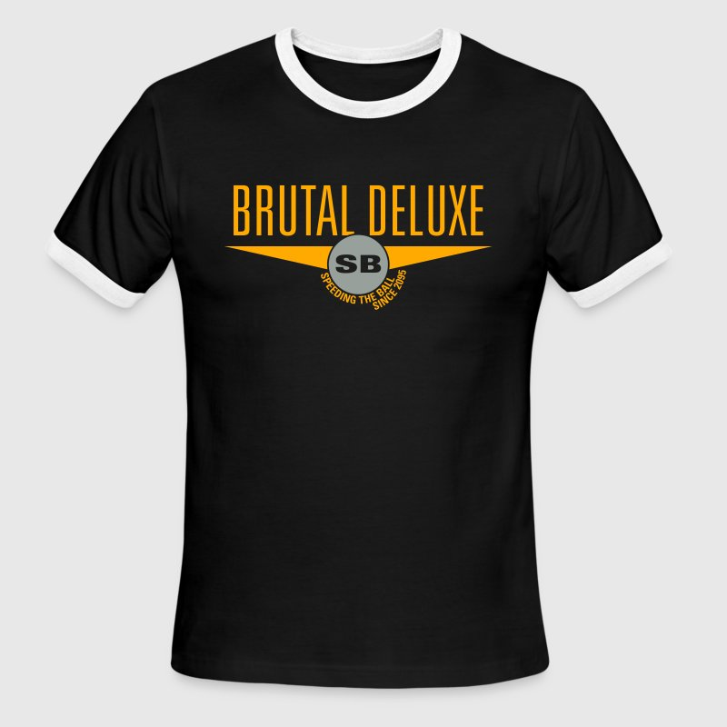 Black/white Brutal Deluxe T-Shirts - Men's Ringer T-Shirt
