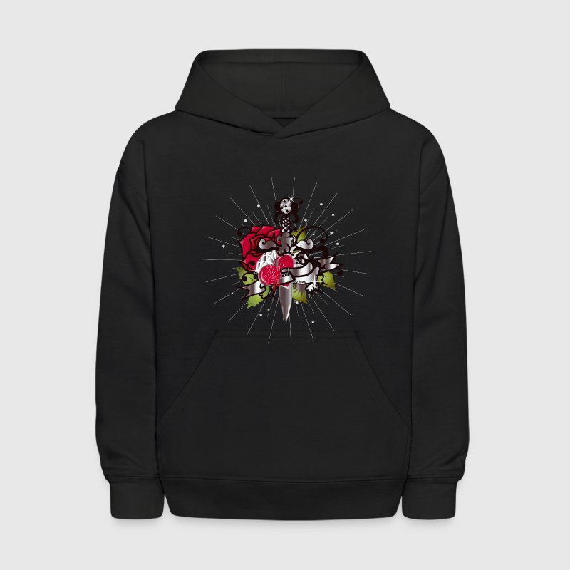 Black The heart,the rose and the dagger Sweatshirts - Kids' Hoodie