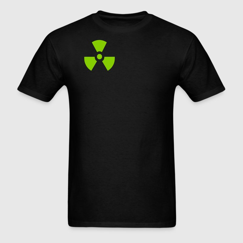 Black Radiation Symbol T-Shirts - Men's T-Shirt