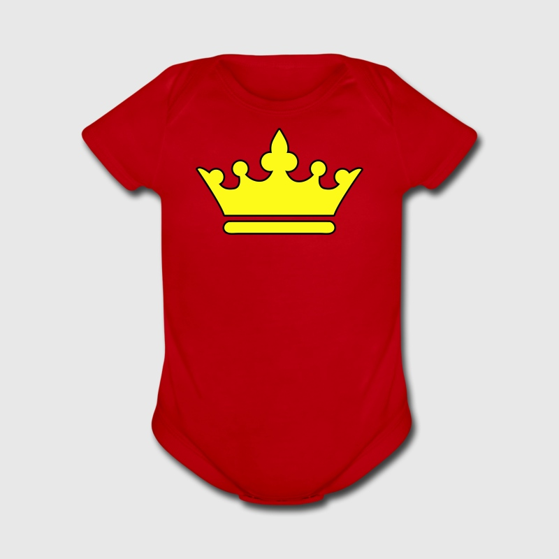 Red KINGS CROWN prince princess or Queen Baby Body - Short Sleeve Baby Bodysuit