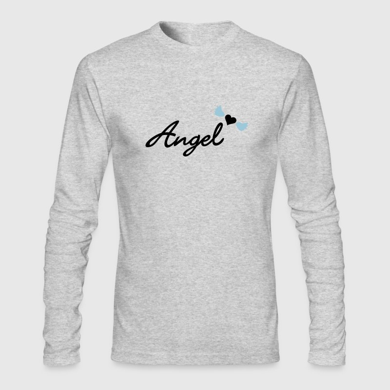White angel  (text, 2c) Long Sleeve Shirts - Men's Long Sleeve T-Shirt by Next Level