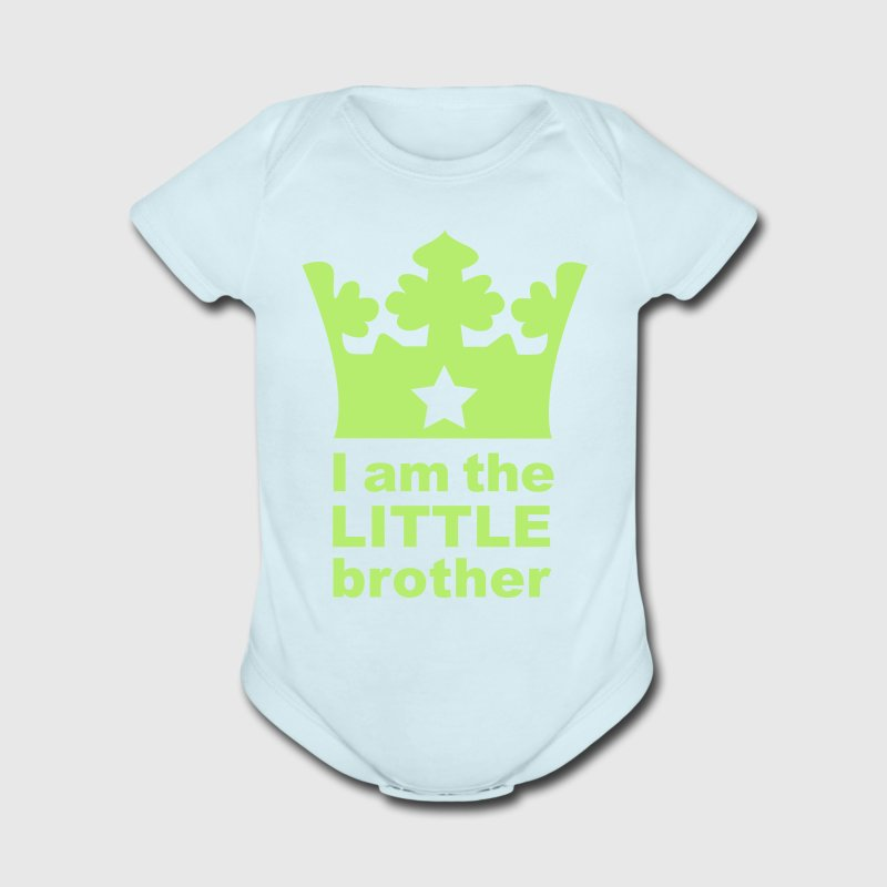 Sky blue I am the little Brother Baby Body - Short Sleeve Baby Bodysuit