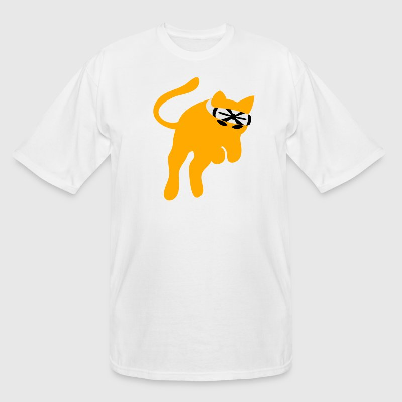 White Don't mess with the KARATE kung-fu CAT T-Shirts - Men's Tall T-Shirt