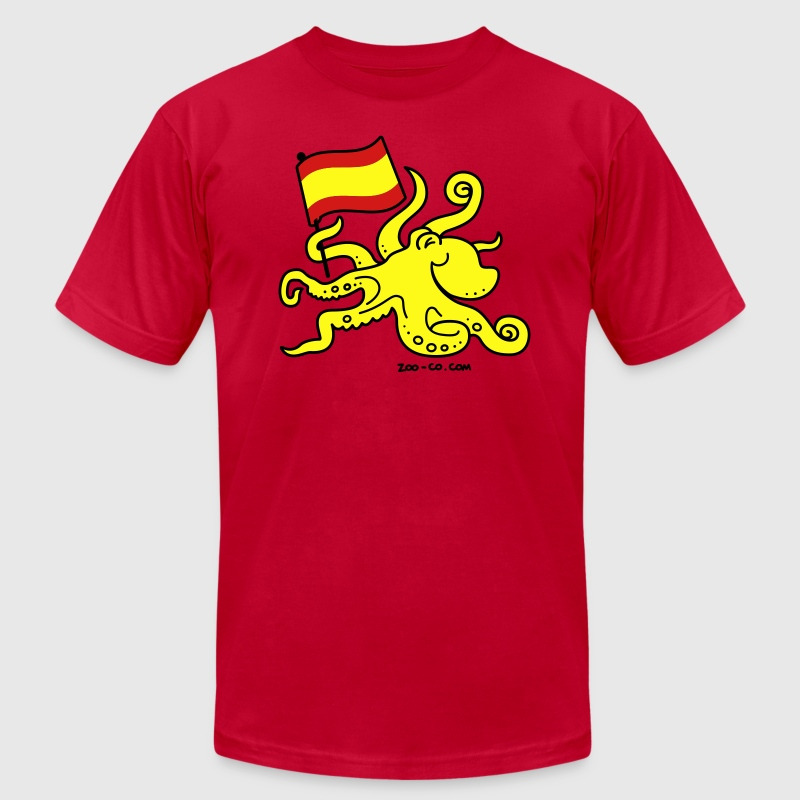 Red Paul the Octopus is Spanish! T-Shirts - Men's Fine Jersey T-Shirt
