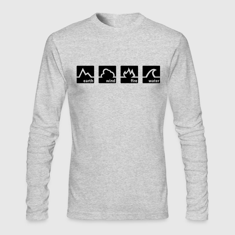 White Earth Wind Fire Water (1c) Long Sleeve Shirts - Men's Long Sleeve T-Shirt by Next Level