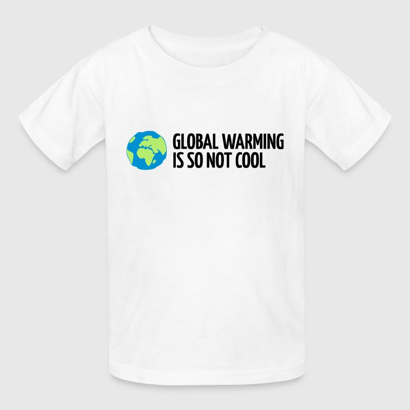 White Global Warming is not Cool (3c) Kids' Shirts - Kids' T-Shirt
