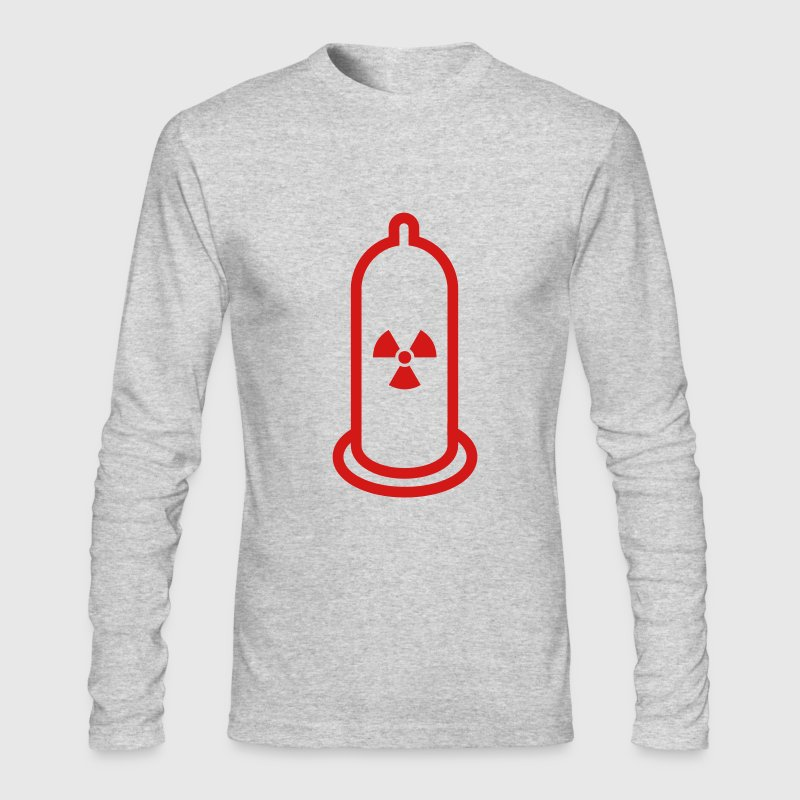 White Atomic Condom (1c) Long Sleeve Shirts - Men's Long Sleeve T-Shirt by Next Level