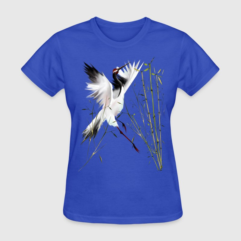 One Crane In Bamboo - Women's T-Shirt