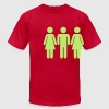 Orange Threesome T-Shirts - Men's T-Shirt by American Apparel
