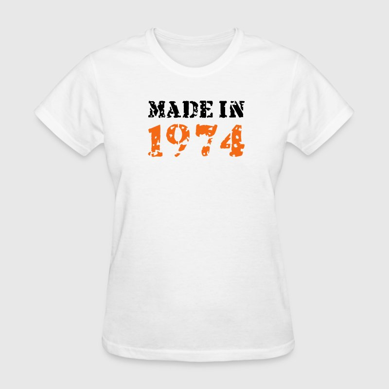 White Made in 1974 Women's T-Shirts - Women's T-Shirt