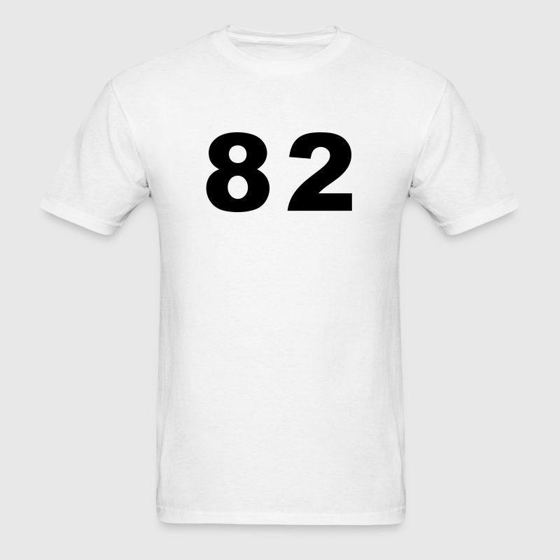 White Number - 82 - Eighty Two T-Shirts - Men's T-Shirt
