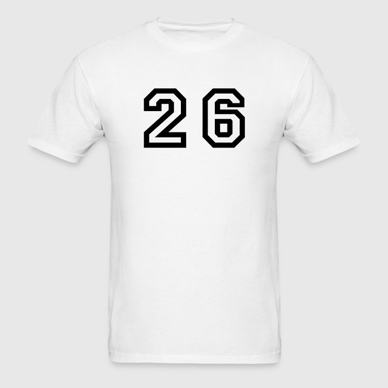 White Number - 26 - Twenty Six T-Shirts - Men's T-Shirt