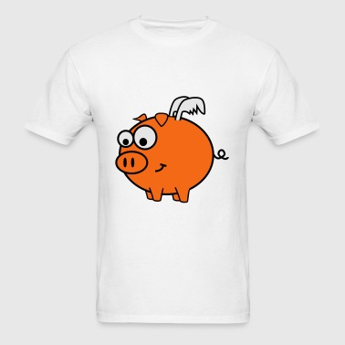Powder blue Pig Fly Baby Body - Men's T-Shirt