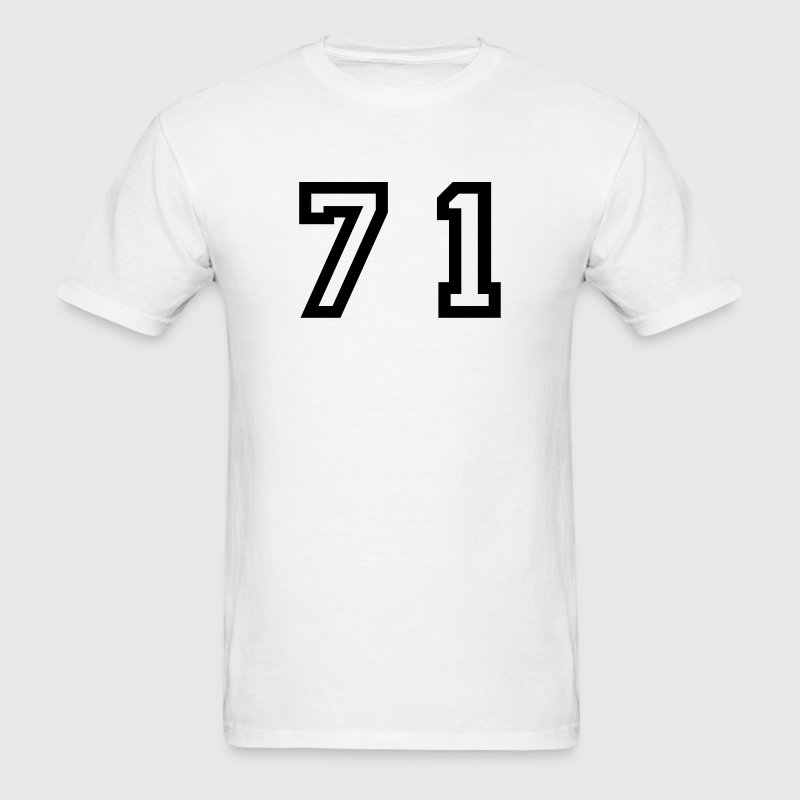 White Number - 71 - Seventy One T-Shirts - Men's T-Shirt