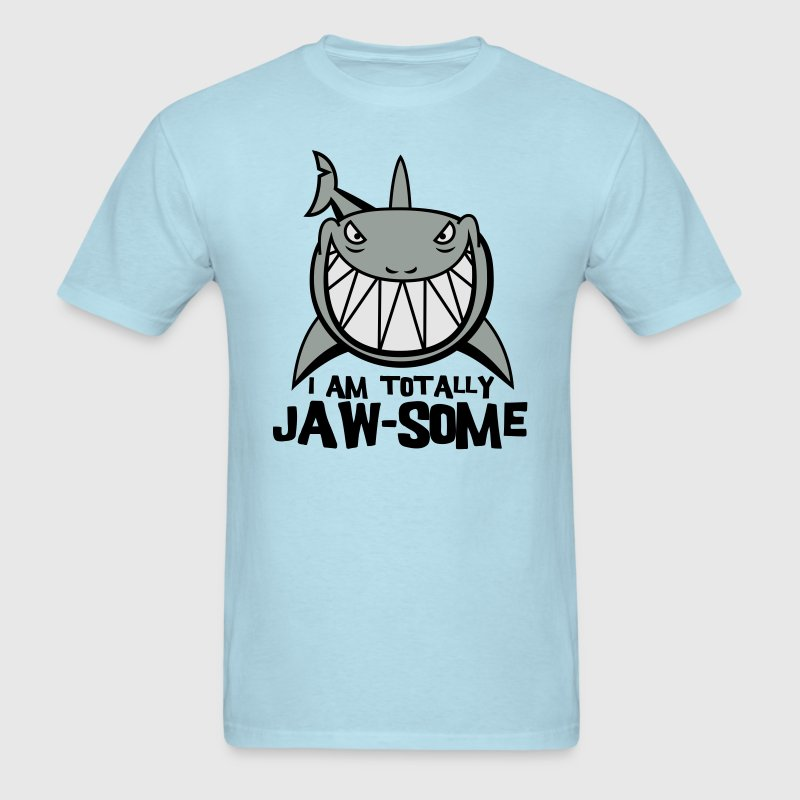 Sky blue Totally Jawsome Shark T-Shirts - Men's T-Shirt