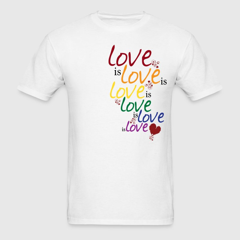 Sky/navy Love is love (Gay Marriage) T-Shirts - Men's T-Shirt