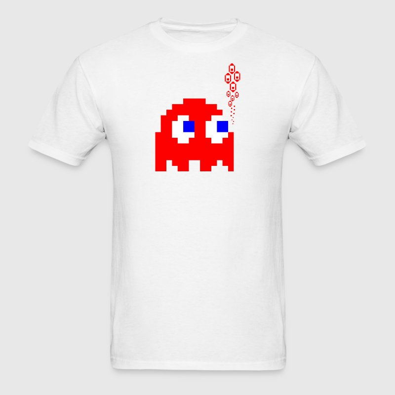 White Red Ghost T-Shirts - Men's T-Shirt