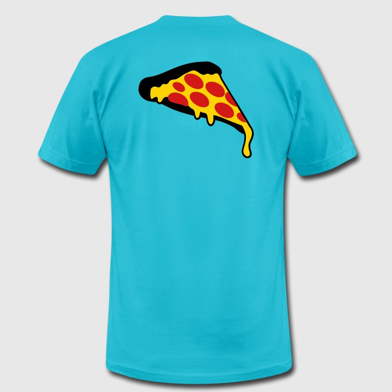 Gold pizza slice pepperoni T-Shirts - Men's Fine Jersey T-Shirt