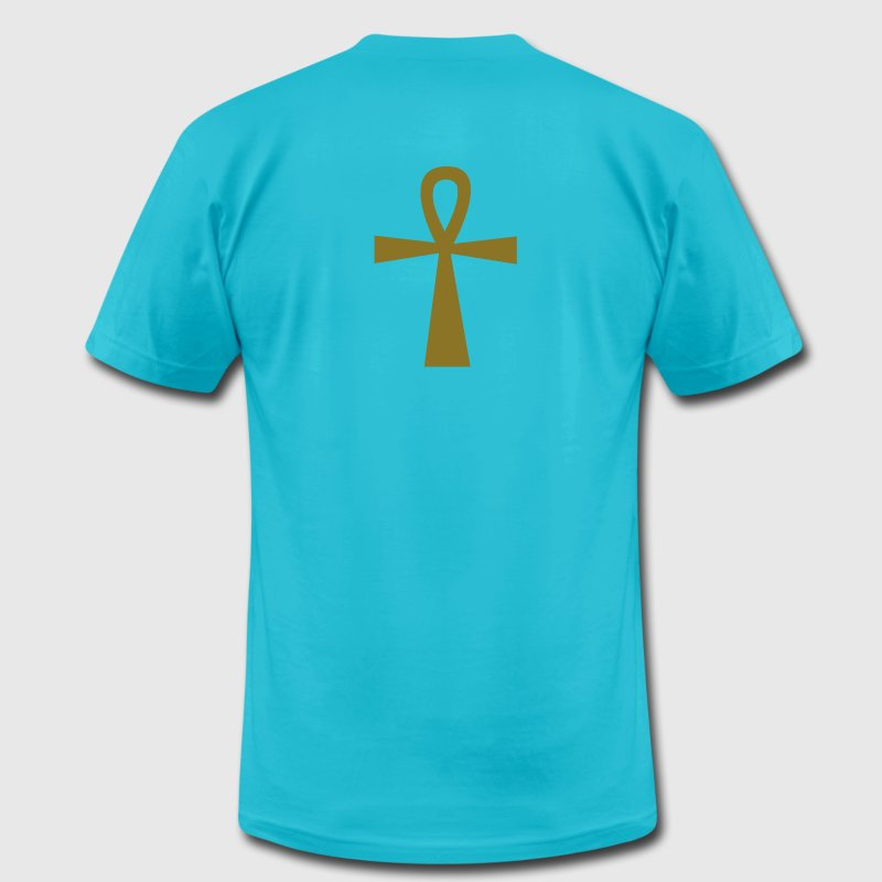 Turquoise ankh eternal life egyptian symbol T-Shirts - Men's T-Shirt by American Apparel
