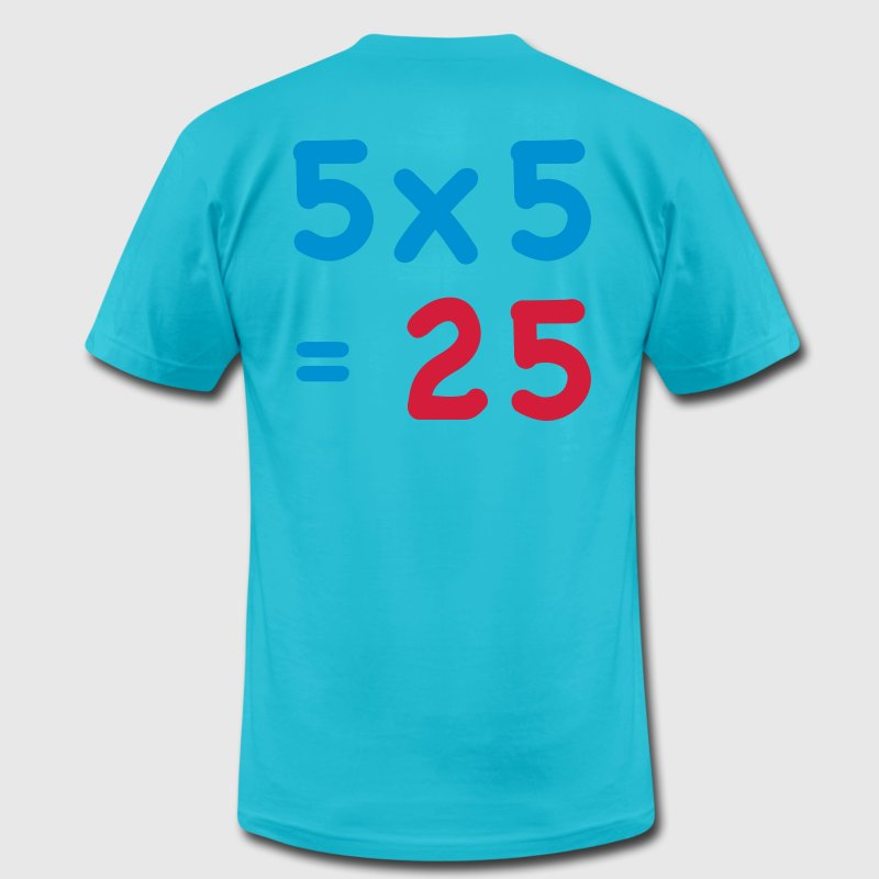 Turquoise MATHS Mathematics SUM table T-Shirts - Men's T-Shirt by American Apparel