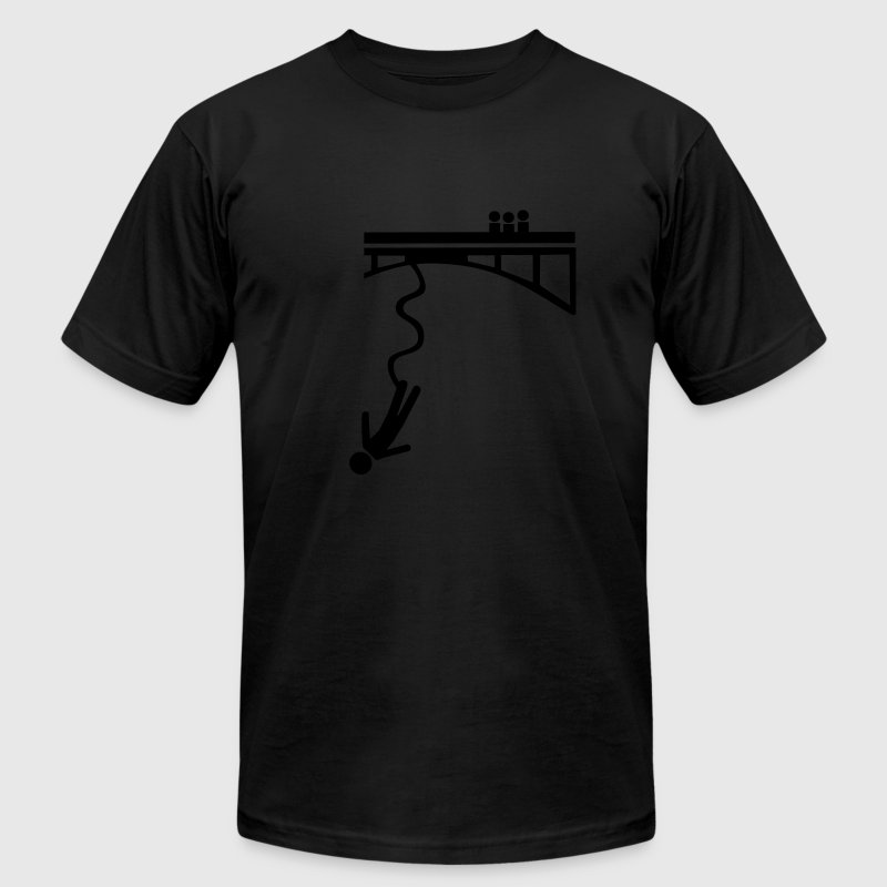 Black Bungee jumping T-Shirts - Men's T-Shirt by American Apparel