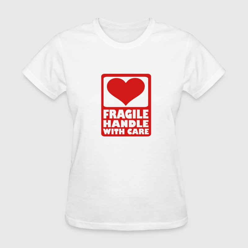 White Fragile Handle with care Women's T-Shirts - Women's T-Shirt