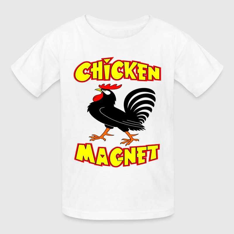 White Chicken Magnet Kids' Shirts - Kids' T-Shirt