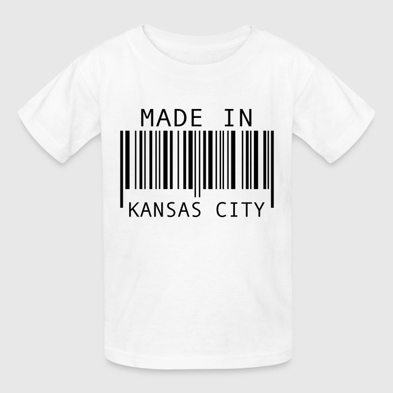 White Made in Kansas City Kids' Shirts - Kids' T-Shirt