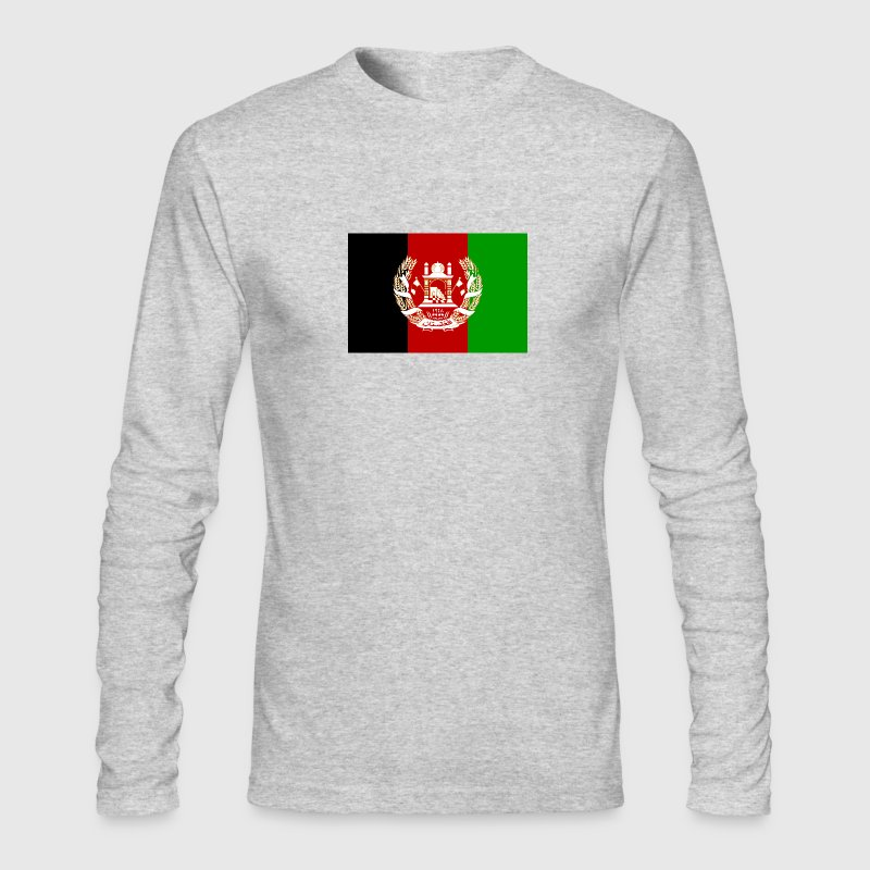 Kingdom of Afghanistan Flag - Men's Long Sleeve T-Shirt by Next Level