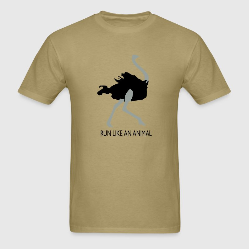 Run Like an Animal, Men's Khaki - Men's T-Shirt