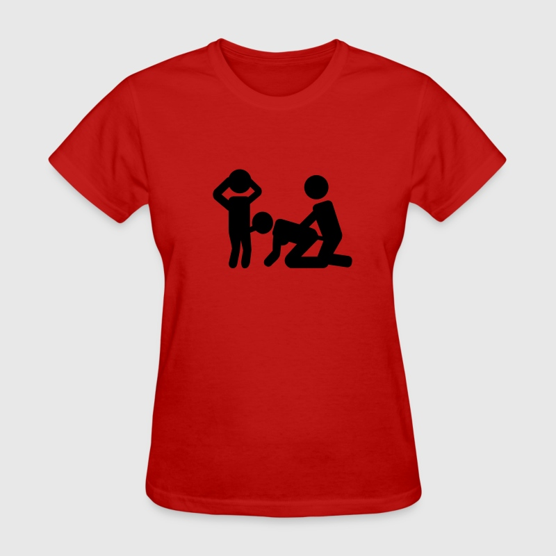 Red Threesome sex Women's T-Shirts - Women's T-Shirt