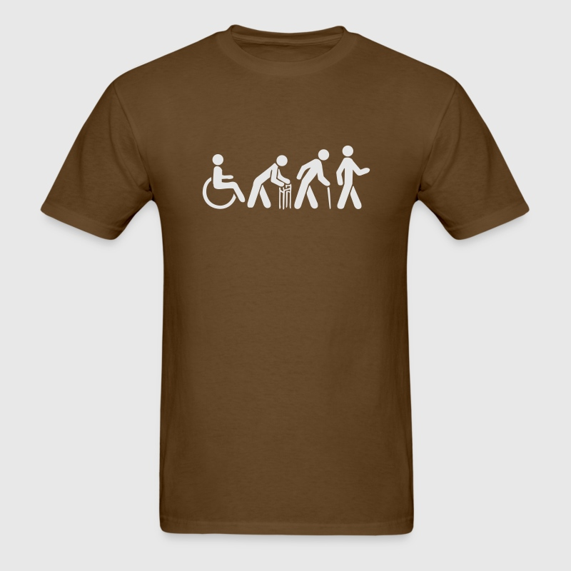 Brown evolution vector T-Shirts - Men's T-Shirt