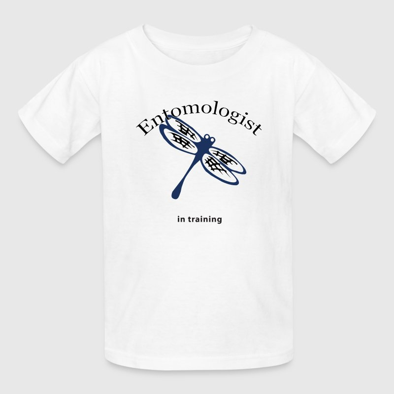 White Entomologist in Training Kids' Shirts - Kids' T-Shirt