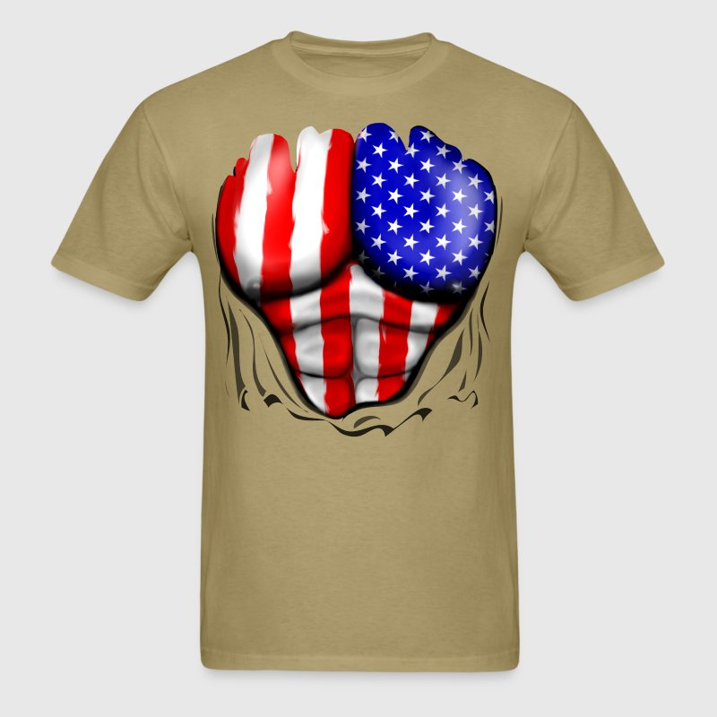 America flag ripped muscles six pack chest t shirt t for T shirt design usa